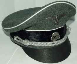 German Waffen SS Officer Visor Cap