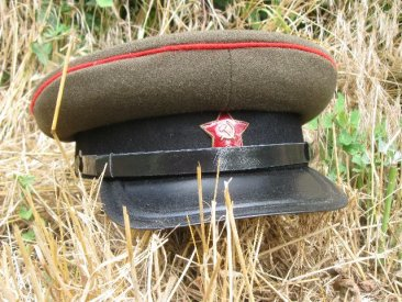 WW2 tankman officer battle field visor hat
